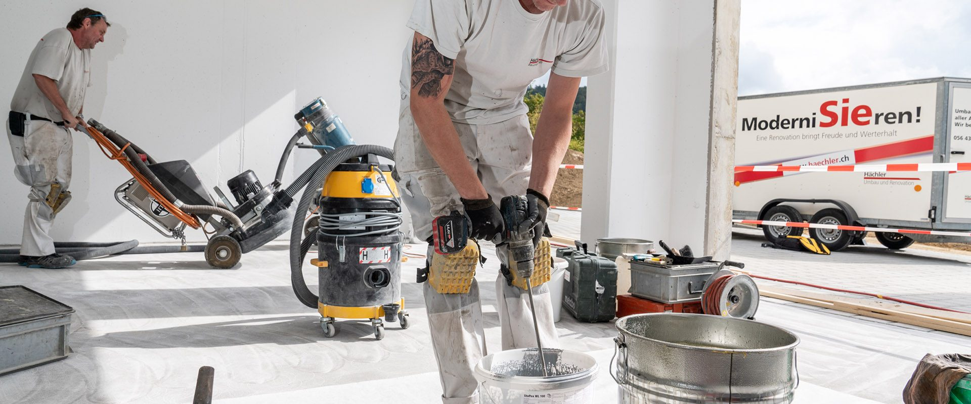 Umbau, Renovation, Modernierung, Bodenbeschichtung